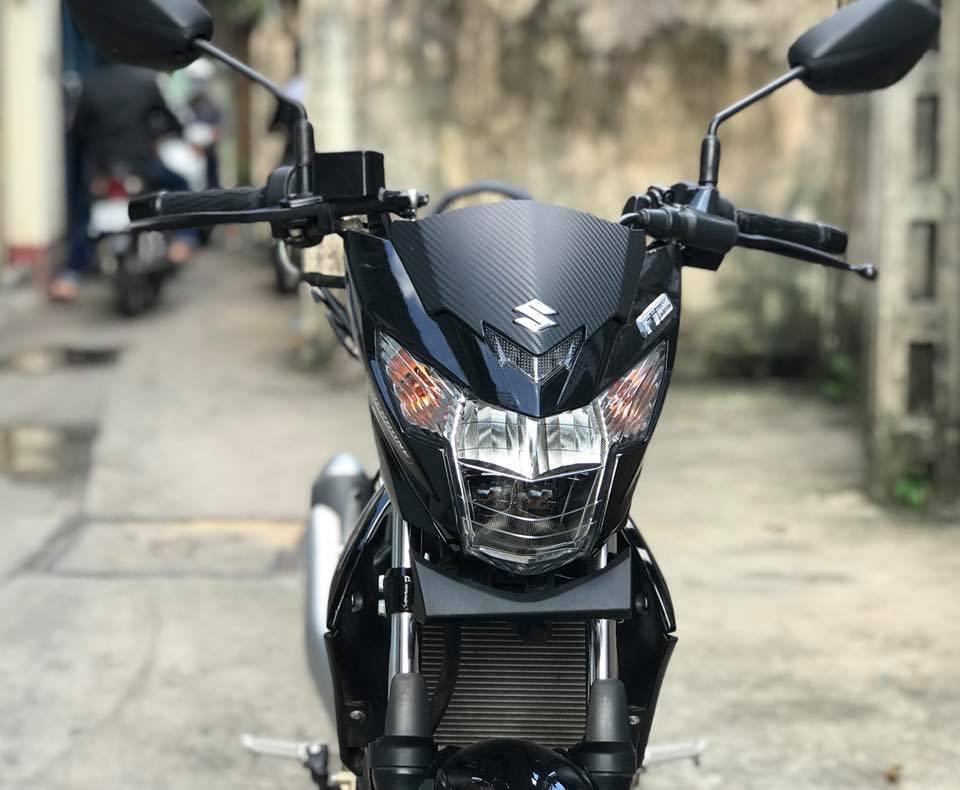 Ba ga inox baga son tinh dien Suzuki Satria Fi Raider Fi Viet Nam Raider xang co - 10