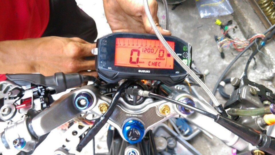 Đồng hồ Suzuki Raider Fi, Satria F Fi chế mọi loại xe