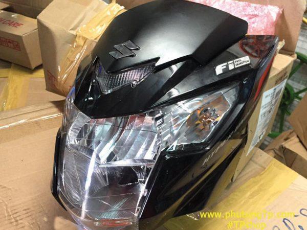 Full đầu đèn Satria F fi tích hợp sẵn sinhan, gắn cho Raider Việt nam như zin