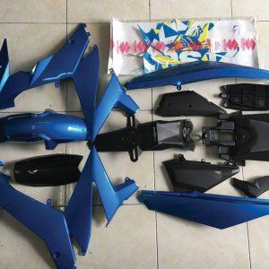 Full dàn áo xanh GP Satria Fi upto cho Raider Fi việt Nam