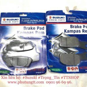 Bố thắng trước sau hàng chính hãng Indonesia cho Suzuki Satria Fu - Satria Fi - Raider fu và Fi Việt Nam