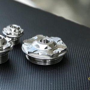 Ốc kiểu Inox gắn cho Suzuki Raider Fi - Satria Fi, hàng CNC Inox cao cấp
