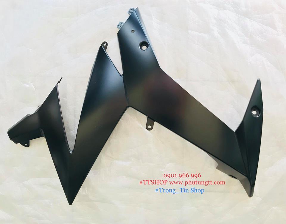 Yếm trước ( Ốp bụng trước) trái phải Suzuki Satria Fi - Raider Fi màu Nhám đen