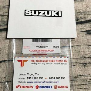 Tem logo Suzuki dán dè sau cho Raider - Satria fi-Fu