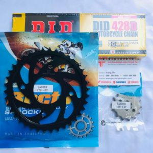 Full bộ Nhông sên dĩa DID 9ly 428D chính hãng Dĩa Rector size 38 - 39 - 40 - 41